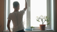 Sports and physical education. Caucasian Teen Boy Child playing sports with Stock Footage