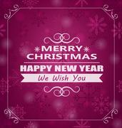 Merry Christmas Wishes Stock Illustration