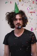 Confetti man on party Kuvituskuvat