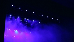 Blue and white light at the concert. The light on the stage. Stage Light. Stock Footage