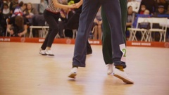 Couples dancing Boogie woogie rock-n-roll. Dance competitions Stock Footage
