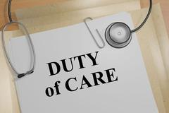 Duty of Care - medical concept Stock Illustration