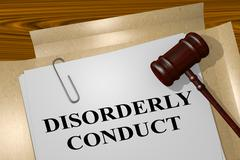Disorderly Conduct - legal concept Stock Illustration