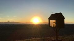 Sunset with a kandylakia Stock Footage