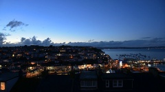 Time lapse of the harbor of Brixham in England . Stock Footage