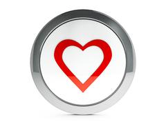 Love icon with highlight Stock Illustration