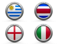 Brazil world cup 2014 group D Stock Illustration