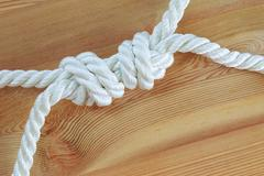 Knot on a rope Stock Photos