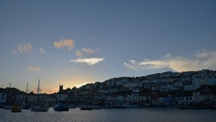 Time lapse of the harbor of Brixham in England Stock Footage