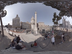 ROME - ITALY: View of Column of Trajan. 360 video VR Stock Footage