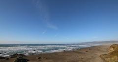 10 Mile Beach In Forth Bragg, California Stock Footage