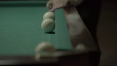 Good shot to the pocket. Billiards Stock Footage