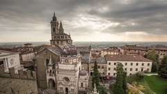 Bergamo Cappella Colleoni view from above Stock Footage
