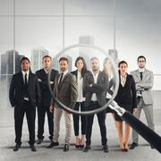 Recruitment and select candidates Stock Photos