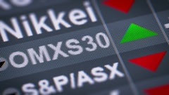 The stock market index for the Stockholm Stock Exchange.  Up. Looping. Stock Footage