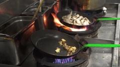 Stir-fried vegetables in a pan Stock Footage