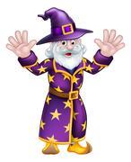Cartoon Wizard Stock Illustration