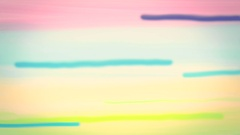 Colorful stripes. Hand drawn, painted background animation. Retro look Stock Footage