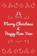 Christmas card concept by Have red and white color Stock Illustration