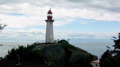 Lighthouse Park, Vancouver Stock Footage