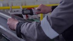 Quality control rails Stock Footage