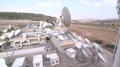 Satellite site long shot at Emek Ha'ela Stock Footage