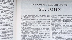 The Gospel According To St.John Stock Footage