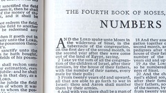 The Fourth Book Of Moses, Numbers Stock Footage