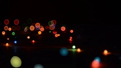 Garland Light Effects. Flashing and refocusing Stock Footage