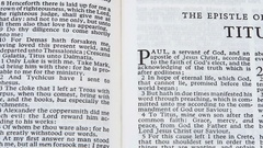 The Epistle Of Paul To Titus Stock Footage