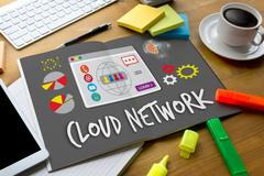 Cloud Network Communication  Globalization Cloud Stock Photos
