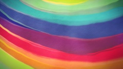 Rainbow background. Hand drawn, painted background animation loop. Textured look Stock Footage