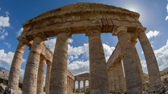 Segesta greek ruins empire sicily temple italy Stock Footage