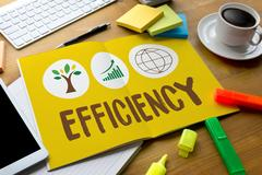EFFICIENCY  Life Preservation Protection Growth Project About Business Stock Photos