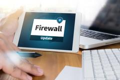 Firewall Antivirus Alert Protection Security and Cyber Security Protec Stock Photos