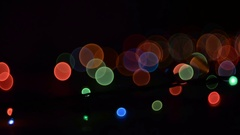 Garland Light Effects. Stock Footage