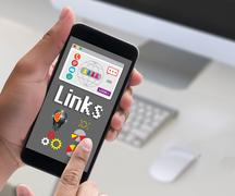Links Global Communication Connection Hyperlink seo search engine opti Stock Photos