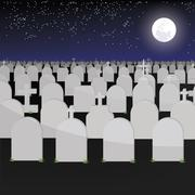 Big tomb have graves of vector ESP 10 Stock Illustration