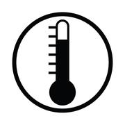 Icon thermometers have levels and have white BG by illustration 07 Stock Illustration