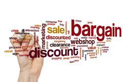 Bargain word cloud concept Stock Photos