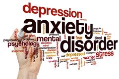 Anxiety disorder word cloud Stock Photos