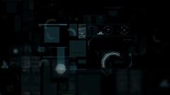Command center futuristic digital interface / Deep learning on big data process Stock Footage