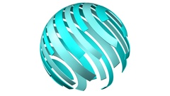 Abstarct background - sphere of tape. 3D rendering. Stock Footage