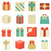 Parcel and colorful gift box collection Stock Illustration