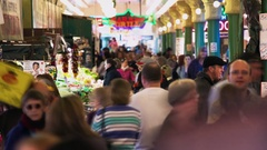 Crowd Pike Place Market Stock Footage