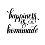 Happiness is homemade handwritten positive inspirational quote Stock Illustration