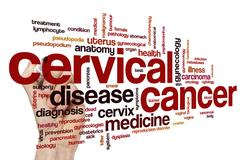 Cervical cancer word cloud Stock Photos