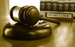 Divorce Court and gavel Stock Photos