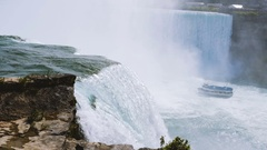 Niagra Falls Slow motion water  Stock Footage