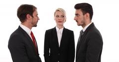Good Looking Business Men Partnership Collaboration Handshaking Team Office Room Stock Footage